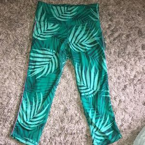 Women's teal active leggings
